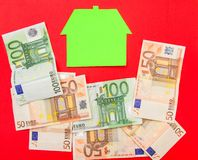 House and euros Royalty Free Stock Photography