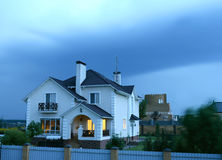 House in the evening Stock Photography