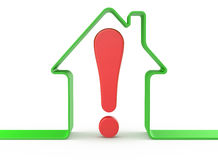 House with exclamation mark Stock Photography