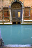 House door on Venice canal  Stock Image