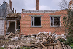 House after the explosion Stock Photography
