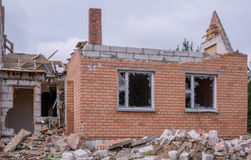 House after the explosion Stock Photo