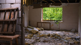 House after the explosion Royalty Free Stock Photos