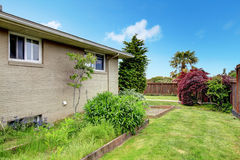 House exterior. Backyard view Royalty Free Stock Photography