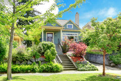 House exterior with beautiful curb appeal Royalty Free Stock Photos