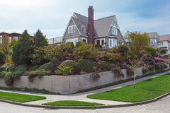 House exterior with beautiful curb appeal Royalty Free Stock Photography