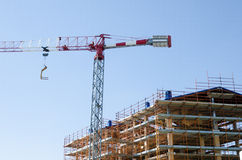 House exterior in construction Stock Photo