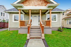 House exterior. Entrance porch with walkway Royalty Free Stock Photo