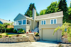 House exterior with garage Royalty Free Stock Image