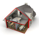 House exterior and interior Royalty Free Stock Photography