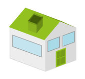 house exterior isolated icon design Stock Photography