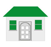 house exterior isolated icon design Royalty Free Stock Images