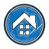 House exterior seal isolated icon Stock Photo
