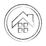 House exterior seal isolated icon Royalty Free Stock Image