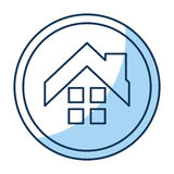 House exterior seal isolated icon Royalty Free Stock Photos