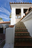House Exterior With Stairs Stock Photo