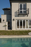 House exterior and swimming pool Stock Photo