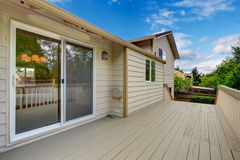 House exterior.  Walkout deck Royalty Free Stock Photos