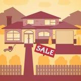 house försäljningen stock illustrationer