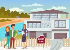 house försäljningen Plan illustration för vektor vektor illustrationer