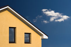 House facade. On the blue sky Stock Image