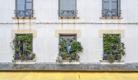 House facade in Brittany. House facade in the old town of Concarneau in the Finistere department of Brittany in France Stock Photography