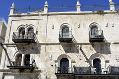House facade in Old City of Jerusalem. Royalty Free Stock Photos