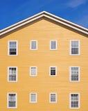 House facade. Part of building exterior - House facade Royalty Free Stock Image