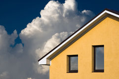 House facade under blue sky Royalty Free Stock Photography