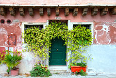 HOUSE FACADE IN VENICE, ITALY Royalty Free Stock Images