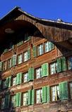 House facade with windows Stock Photos