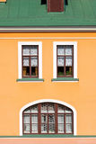 House facade with windows. Stock Photo