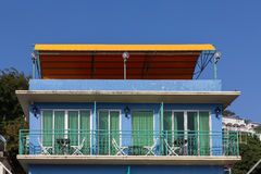 House facade in Yung Shue Wan Lamma Island Stock Images