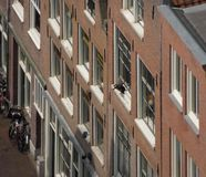 House facades in Amsterdam Stock Image