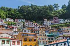 House facades in the fishers town of cudillero Royalty Free Stock Photos