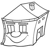 House with Face Royalty Free Stock Photos