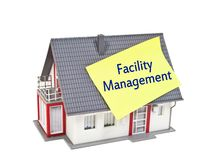 House with facility management royalty free stock image