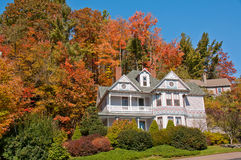 House with Fall Foliage Stock Image