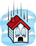 House Falling Stock Image