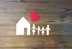 House, family, heart stock photography