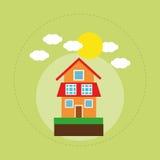 House family home energy ecology solar Stock Photos