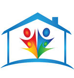 House and family logo Royalty Free Stock Photo