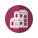 House family residential purple circle shadow. Vector illustration eps 10 Stock Images