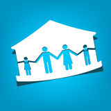House with family symbols vector illustration Stock Photo