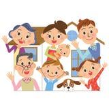 House family three generation Stock Photography