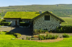 House of famous Iceland writer Gunnar Gunnarsson at Fljotsdalur stock images