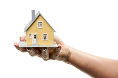 House in Female Hand Stock Photography