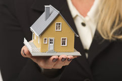 House in Female Hands Royalty Free Stock Images