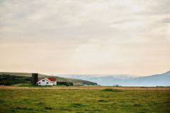 House in a field in Iceland. stock photography