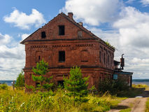 House on the field, Russia Stock Photos